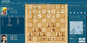 Chessmaster 10th edition running on Windows XP
