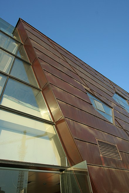 Exterior copper cladding on a modern building at Yifei Originality ...