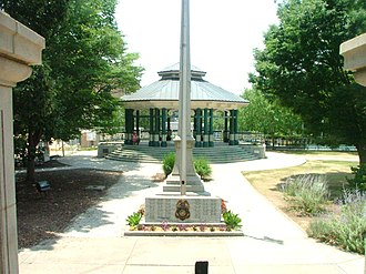 Decatur, Georgia - The Decatur Square gazebo from the old courthouse steps