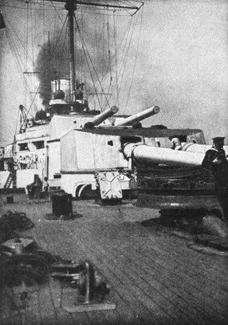 30.5 cm SK L/50 gun - Image: Derfflinger's fore turrets