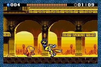 Digimon Battle Spirit - Agumon (left) and Renamon (right) in Digimon Battle Spirit.