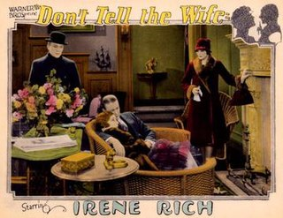 <i>Dont Tell the Wife</i> (1927 film) 1927 film by Paul L. Stein