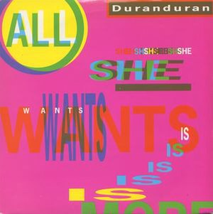All She Wants Is - Image: Duranduran allshewantsis