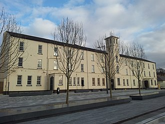 Ebrington Square - Image: Ebrington Clock Tower, Derry