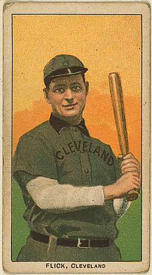 Elmer Flick - A baseball card of Flick as a member of the Cleveland Naps in 1909.