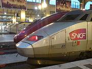 Eurostar, Thalys and TGV PSE No 81 at Paris Gare du Nord