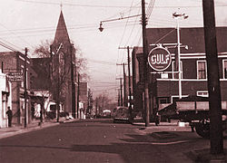 Fayetteville St., Hayti, circa 1940. Courtesy of Durham County Library, NC Collection