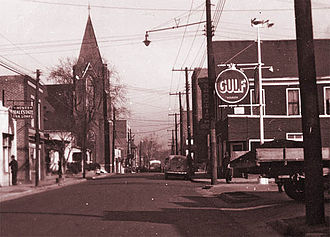 Hayti, Durham, North Carolina - Fayetteville St., Hayti, circa 1940. Courtesy of Durham County Library, NC Collection