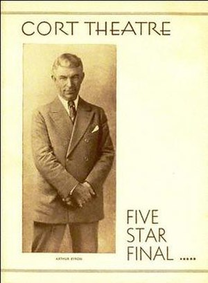 Five Star Final (play) - Broadway program cover