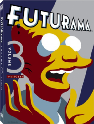 Futurama (season 3) - DVD cover for the 2012 re-release of Volume Three