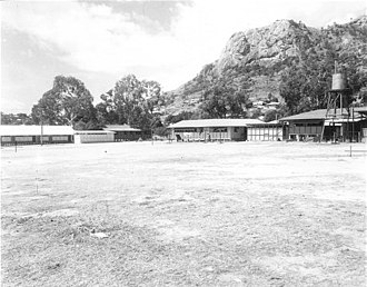 North Ward, Queensland - North Ward parade ground with Castle Hill in background. Circa 1945