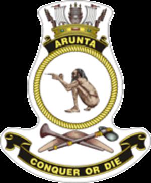 HMAS Arunta (I30) - Ship's badge