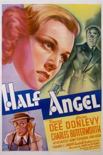 Half Angel (1936 film) - Theatrical release poster