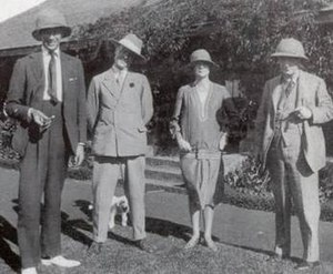 Happy Valley set - Some notable members of the Happy Valley set in Kenya, 1926. From left to right: Raymond de Trafford, Frédéric de Janzé, Alice de Janzé and Lord Delamere.