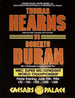 Thomas Hearns vs. Roberto Durán