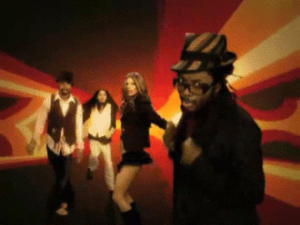 Hey Mama (The Black Eyed Peas song) - The Black Eyed Peas in the psychedelic limbo from the music video.
