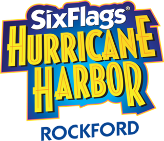 Six Flags Hurricane Harbor Rockford Water park in Cherry Valley, Illinois