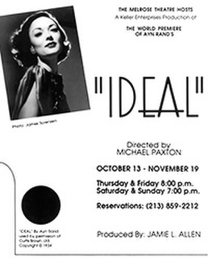 Ideal (play) - Ad for the 1989 premier