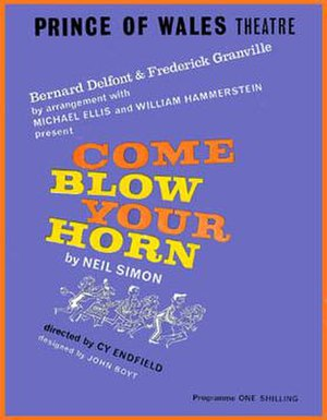 Come Blow Your Horn - Program from West End Production