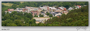 Irvine, Kentucky - Another panorama from atop Rockhouse Mountain