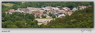 Irvine, Kentucky - Another panorama from atop Rockhouse Mountain