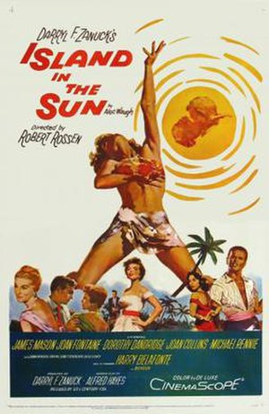 Island in the Sun (film) - Film poster by Jock Hinchliffe