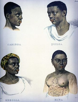 Zumbi (song) - Johann Moritz Rugendas portraits from the 1800s featuring slaves from the locations referred to in the song.