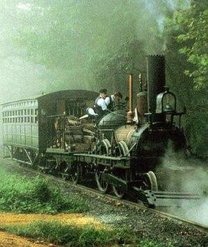 John Bull (locomotive) - The original locomotive under steam in 1981
