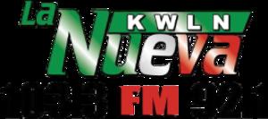 KWLN - Image: KWLN La Nueva 103.3 92.1 logo