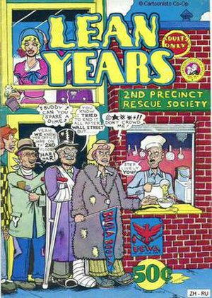 Kim Deitch - Lean Years (1974), a Cartoonists Co-op Press one-shot with cover art by Deitch.
