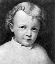 Vladimir Ulyanov (Lenin) at three years of age.