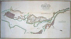 Alexandria Canal (Virginia) - Map of canal