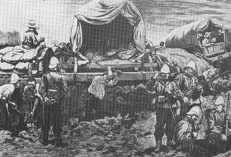Battle of Gingindlovu - Men of the 57th Regiment entrenching a laager.