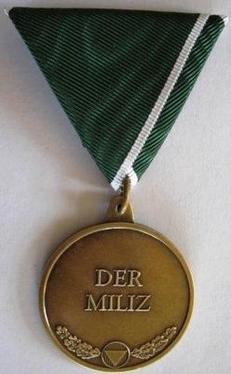 Militia Medal - Image: Milizmedaille