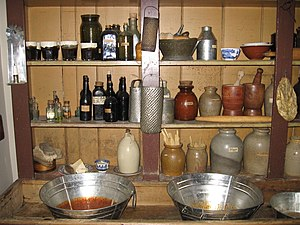 The pantry served guests and the family.