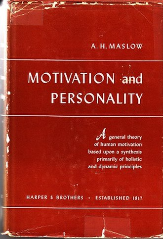 Motivation and Personality (book) - Cover of the first edition