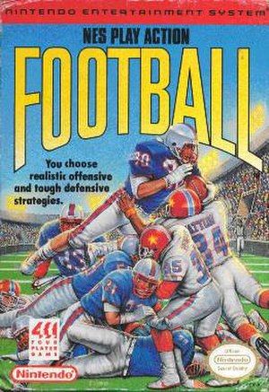 NES Play Action Football - Box art of NES Play Action Football