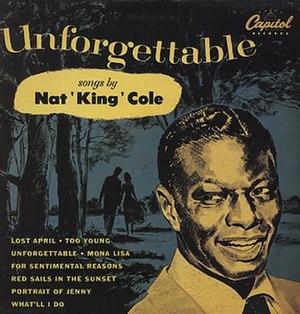 Unforgettable (Nat King Cole album) - Image: Nat King Cole Unforgettable Capitol 10inch