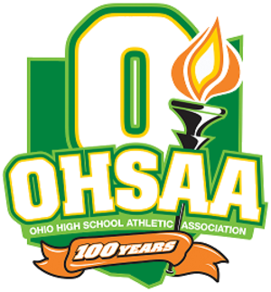 Ohio High School Athletic Association - OHSAA's 100th Anniversary logo.