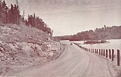 Highway 105 in 1951, shortly after opening