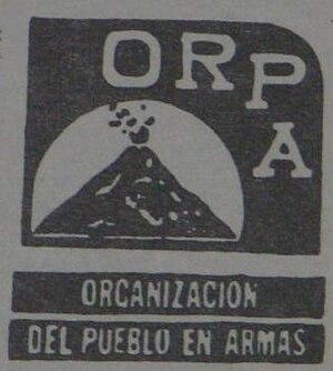Guatemalan National Revolutionary Unity - Image: Organización del Pueblo en Armas (emblem)