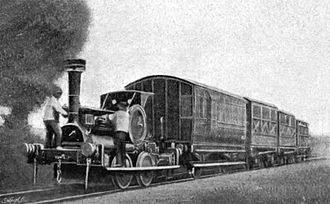 Brill Tramway - An Aveling and Porter locomotive in operation on the Wotton Tramway