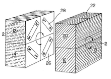 Diagram From Nichols Patent Showing A Cube Held Together With Magnets