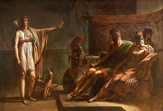 Ippolito ed Aricia - Phèdre et Hippolyte by Baron Pierre-Narcisse Guérin (1802)