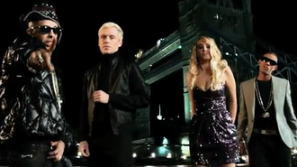 Playing with Fire (N-Dubz song) - From left to right: Dappy, Mr Hudson, Tulisa Contostavlos and Fazer.