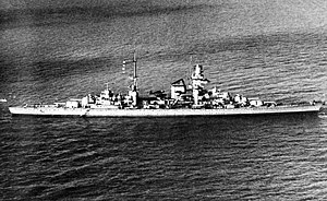 German cruiser Prinz Eugen - Prinz Eugen underway