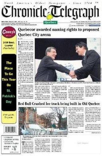 Quebec Chronicle-Telegraph - Image: Quebec Chronicle Telegraph cover
