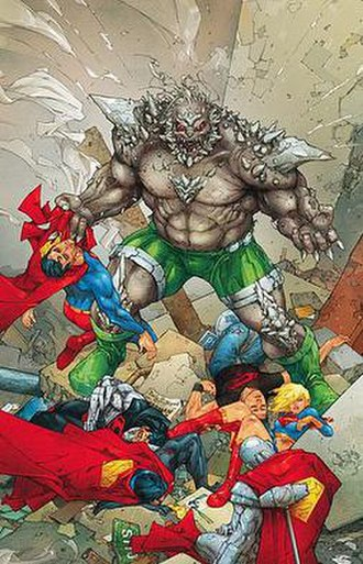 Reign of Doomsday - The principal characters of the Reign of Doomsday crossover. Art by Kenneth Rocafort.