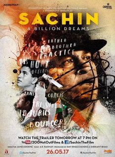 <i>Sachin: A Billion Dreams</i> 2017 Indian biographical film directed by James Erskine
