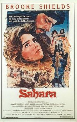Sahara (1983 film) - Theatrical poster by Drew Struzan